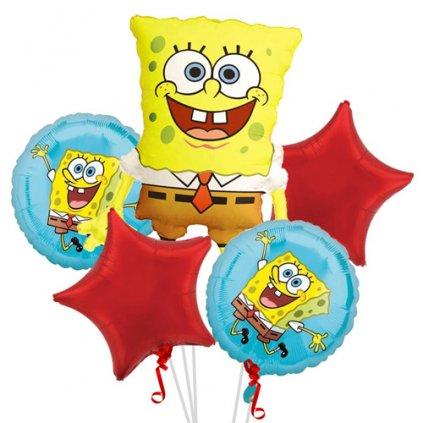 Balonkový buket Sponge Bob EKO - 5 ks