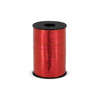 Vázací stuha červená metalická - 225 m