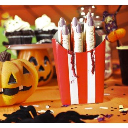 Halloweenská dekorace - prstové hranolky 6 ks