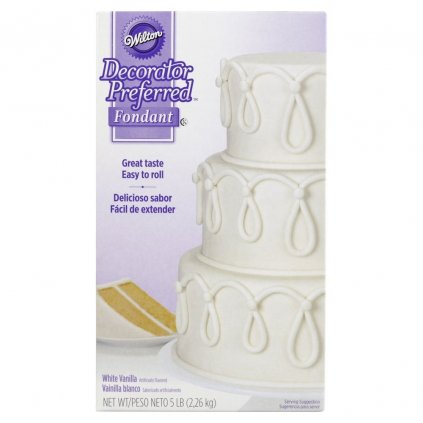 wilton decorator preferred white ready to use fondant 2 27kg 5lbs 41e