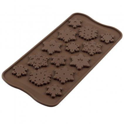 Silikonová forma na čokoládu – sněhové vločky FROZEN