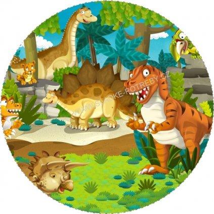 30702 1 obrazek na jedlem papiru dinosauri