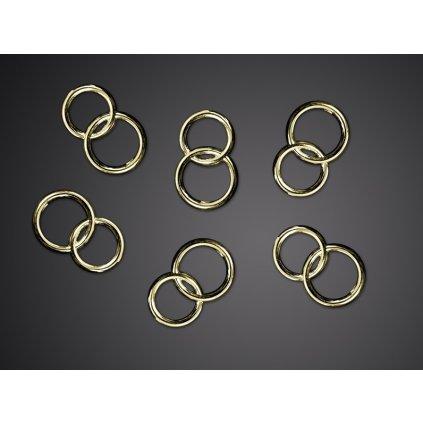 Ozdobná dekorace prstýnky propletené zlaté - 25 ks