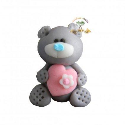 1 prilezitostna postavicka medvidek sedy 30g