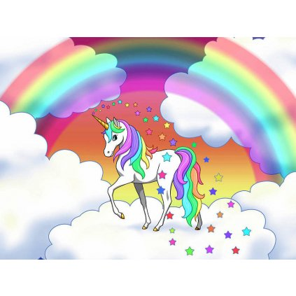 rainbow unicorn clouds and stars crista forest