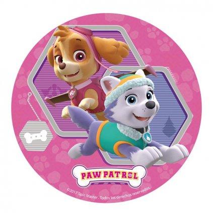 12 wafer disc paw patrol girl 20cm 2mod (1)