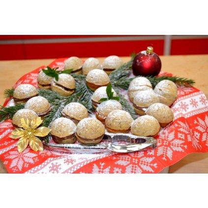 Silikonová pečící forma na vánoční cukroví: OŘÍŠKY