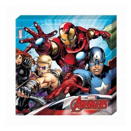 Papírové party ubrousky Mighty Avengers 20 ks