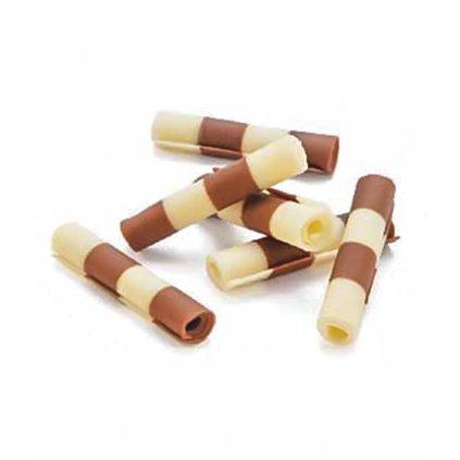 2930 cokoladove tycinky rolls thuja 4 4 5cm bilo mlecne 1 5 kg bal