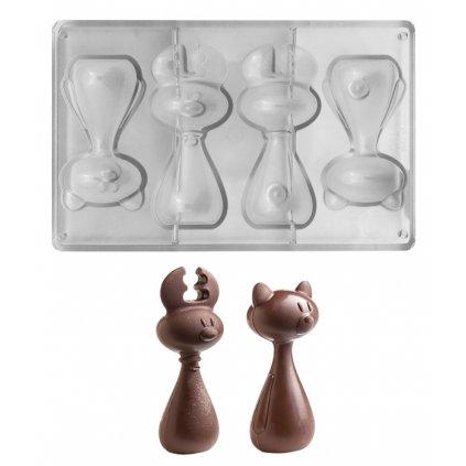 15131 forma na cokoladu parovaci 3d sob a medvidek 80g 1x4 tvary forma