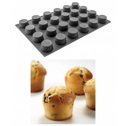 9929 forma silikonova 24ks muffin prum 7 v 4cm 130ml