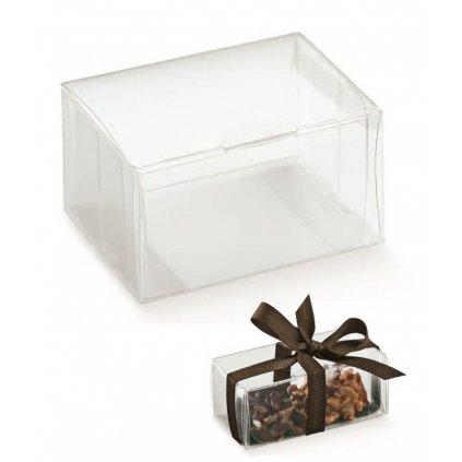 6128 krabicka na pralinky plast 150x25 v 20 mm pruhledna 10 ks bal
