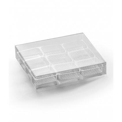 6230 krabicka plast na 9 pralinek pruhledna 1 krabicka