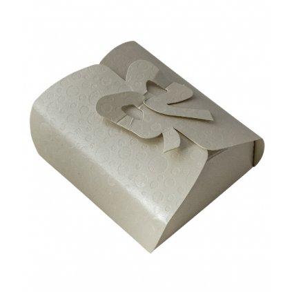 6236 krabicka s masli papir 105x95 v 40 mm bila s kruhy 1 ks krabicka