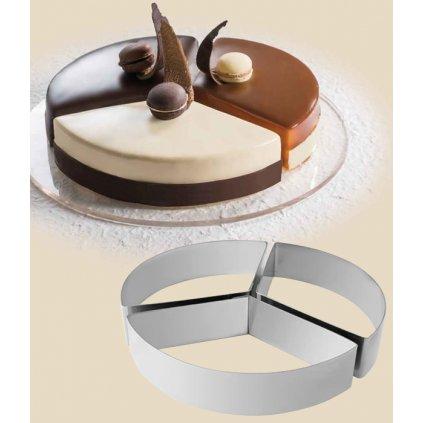 11459 rafek dortovy nerez 3 dilny kruh prum 18cm v 4cm