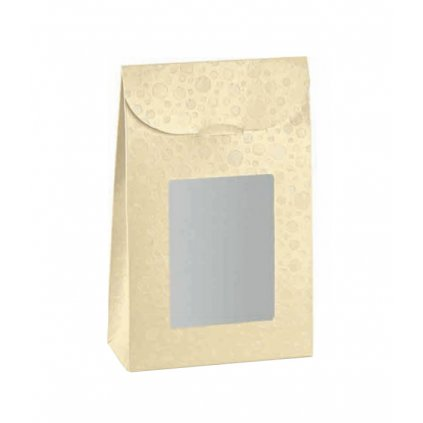 6401 sacek s pruzorem 90x45 v 130mm kremova s kruhy 1 ks sacek