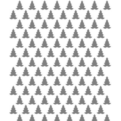13343 sablona na dekoraci platu stromek 30x20cm plast