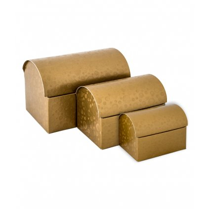 6440 truhla s vikem papir 70x45 v 52mm zlata s kruhy 1 ks krabicka