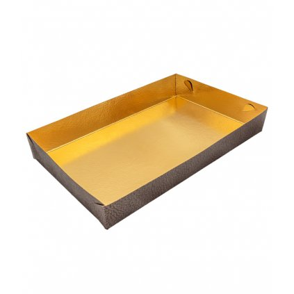 6455 vanicka na cukrovi zlata 220x150 v 35mm kuze hneda 1 ks vanicka
