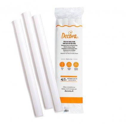 4 plastové tyče pro patrové dorty O 18 MM x 30 CM - Decora