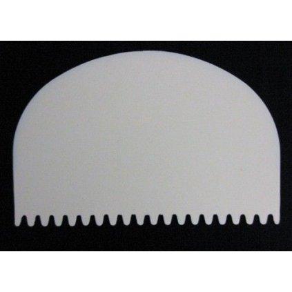 Cukrářská karta tunel zubatý 11,5 x 7,5 cm