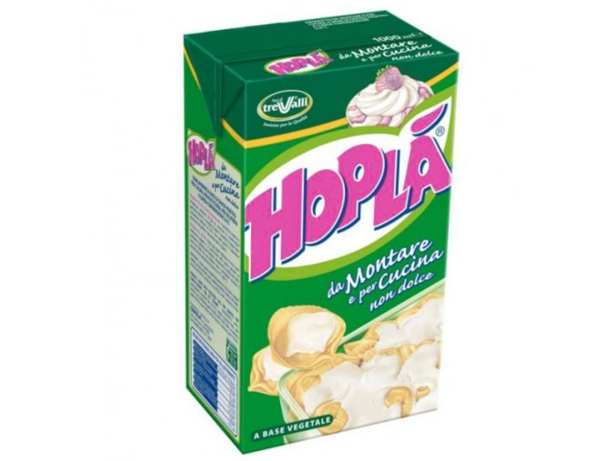Šlehačka HOPLÁ 1 litr - neslazená (Trvanlivost 27. 7. 2017)
