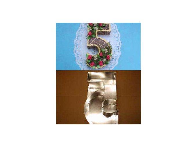 Dortová forma ve tvaru čísla - 5