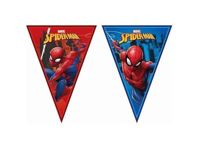 Vlaječková girlanda Spiderman Team Up