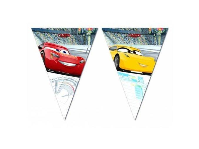 Vlaječková girlanda Cars 3