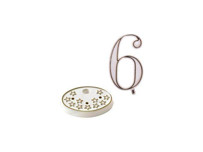 Modecor, Itálie Číslice na dort s podstavcem - 6