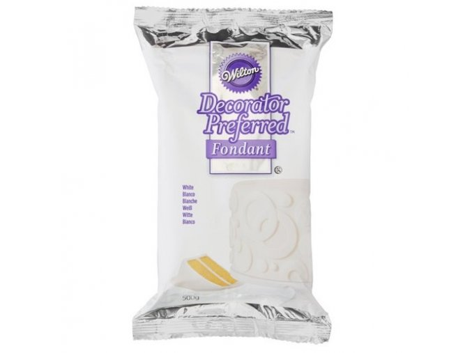white 500g fondant wilton decorator preferred