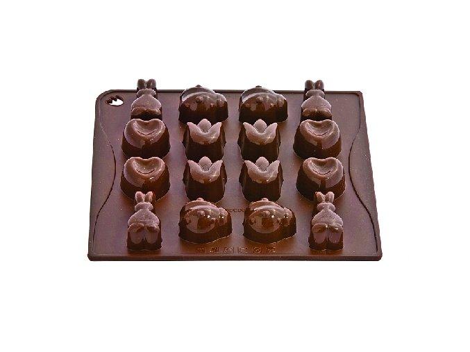 Forma na čokoládu silikonová Pavoni - Spring