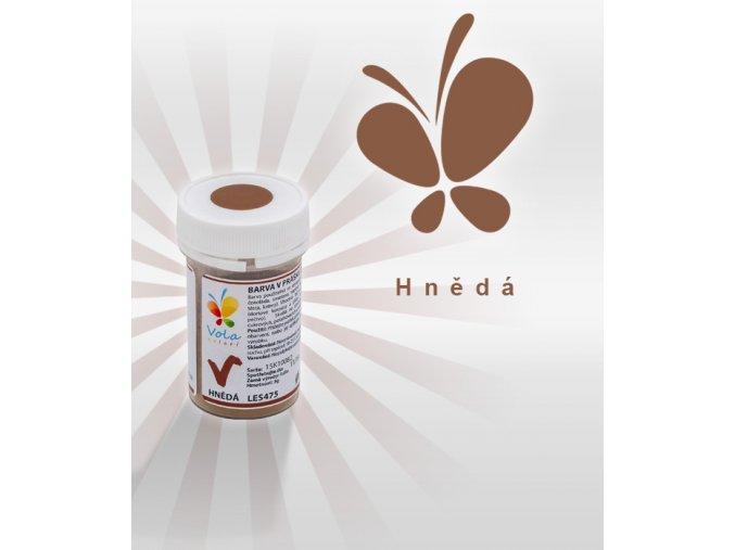 Prášková barva do čokolády VOLA 3g - hnědá (Trvanlivost cca 12 měsíců, Složení E102, E122, E133 E102, E122 (mohou negativně ovlivňovat pozornost a činnost dětí))