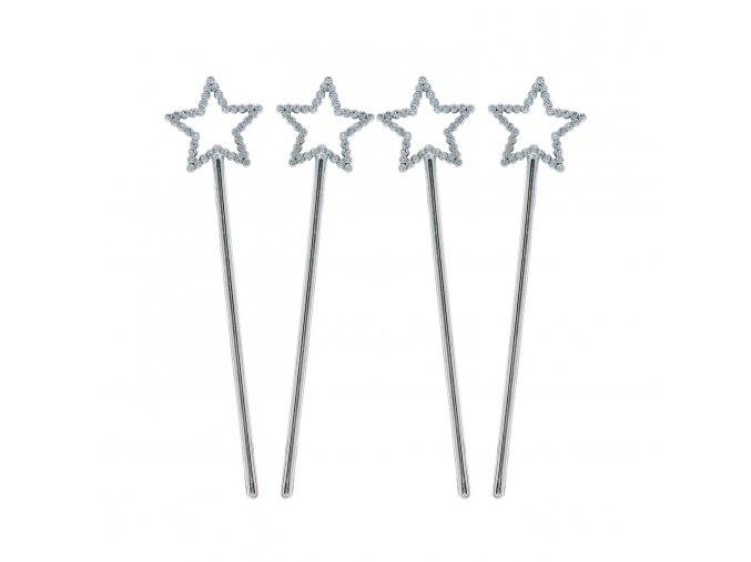 Hvězdný zápich - stříbrný - stříbrná hvězda