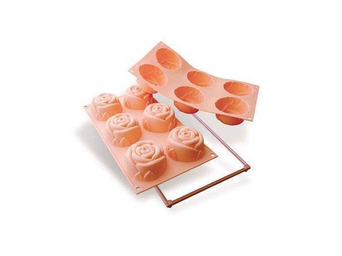 Silikonová forma na dortíky – velké růžičky