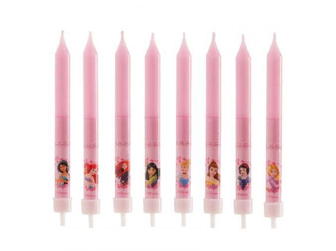 display 12 birthday candles princess 9cm (3)