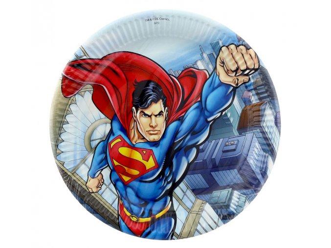 Párty talíře - jednorázové: SUPERMAN 23 cm (8 ks)