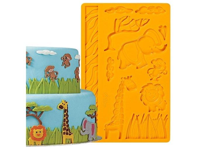 Wilton silikonová forma Jungle Animals