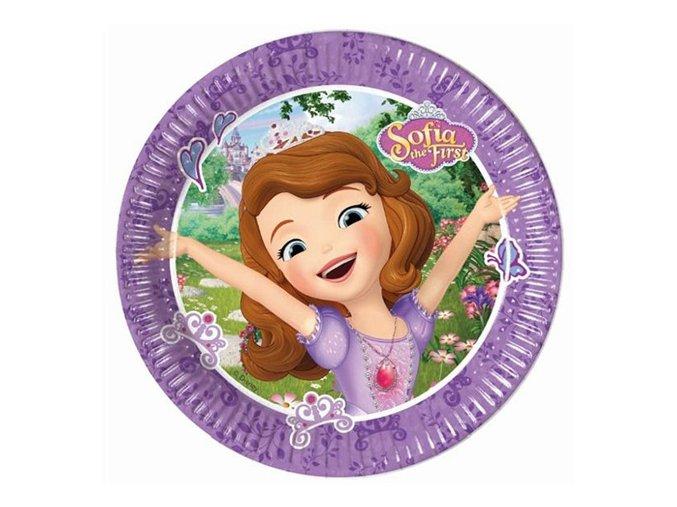 Papírové talířky Princezna Sofie 20 cm