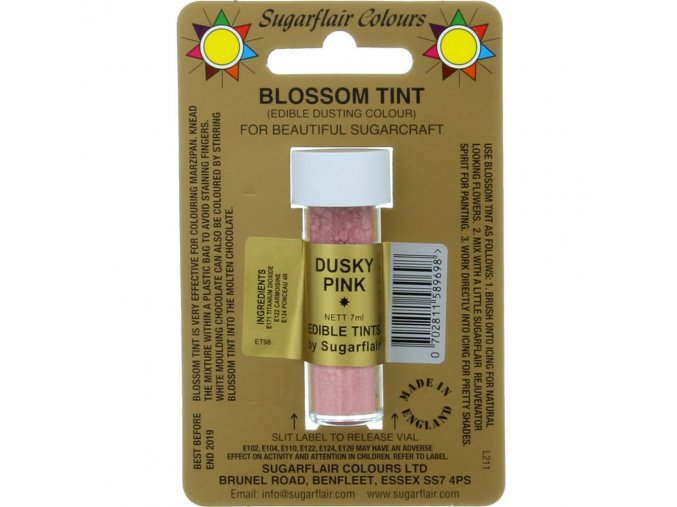 sugarflair colours dusky pink blossom tint dusting colour 7ml vial p1784 7243 image