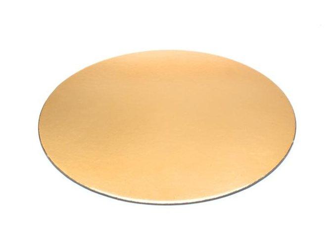 Podložka - zlatý tenký rovný kruh 22 cm