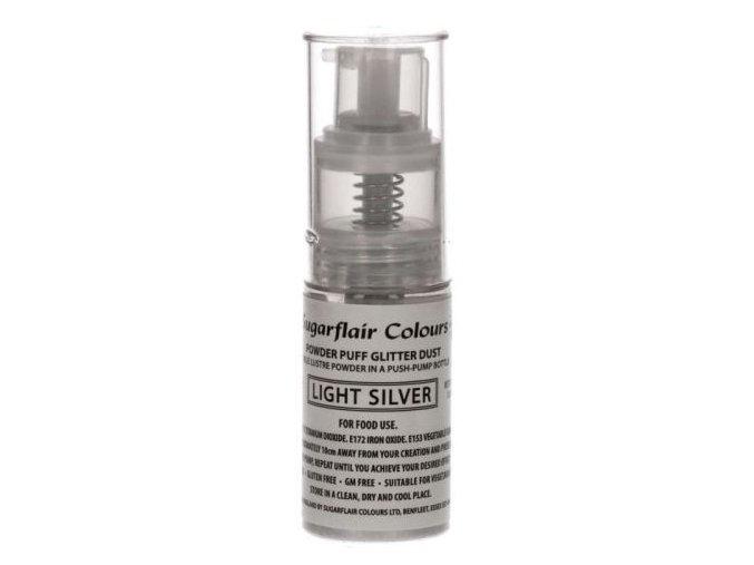 sugarflair trpytky v rozprasovaci light silver 10 g