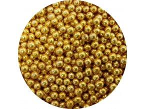 Cukrové perly zlaté malé (50 g)