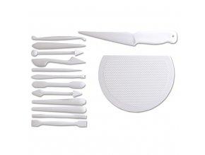 Städter Kostice, plastový nůž a podložky pro sušení modelací (15 ks)