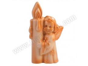 SLEVA 50%! Martellato forma na čokoládu 3D Anděl se svíčkou