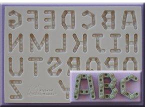 AM0253 Silikonová forma Velká abeceda stavebnice