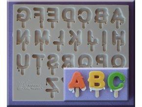 AM0243 Silikonová forma Zmrzlinová abeceda velká