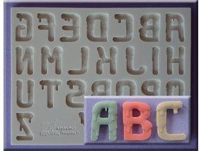 AM0234 Silikonová forma Kapající abeceda velká