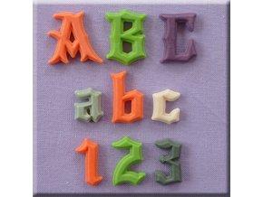 AM0224 Silikonová forma Gotická abeceda a čísla