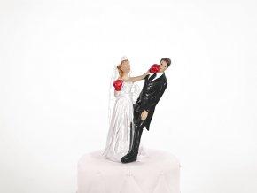 Svatební figurka Boxující nevěsta
